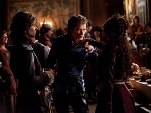 Klaus, Elijah and Katherine (flashback 1491)