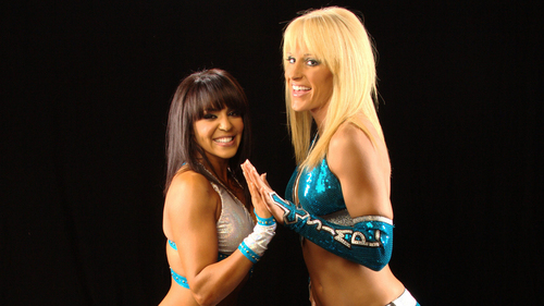 WWE Divas achtergrond containing a bikini called Laycool