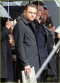 Leonardo DiCaprio: Rainy Cell Phone Shoot
