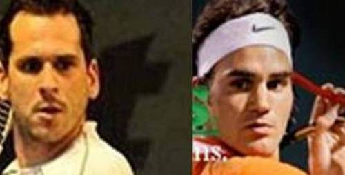 Mateasko and Federer look alikes