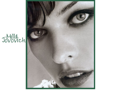 milla jovovich wallpaper possibly containing a portrait entitled Milla Jovovich