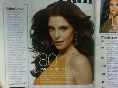 plus scans of Ashley in InStyle!