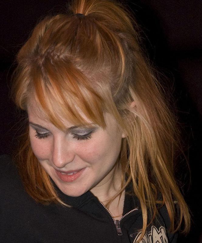 Natural bright orange hair