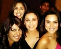Preity Zinta Priyanka Chopra,Rani Mukherjee and Urmila Matondkar at the Lakme Fashion Week Winter Fe - preity-zinta photo