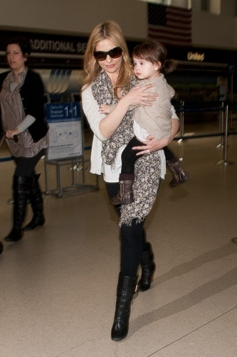 Sarah and Charlotte at LAX Airport - 4th April 2011
