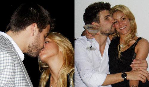 シャキーラ showed with Piqué wedding kiss!