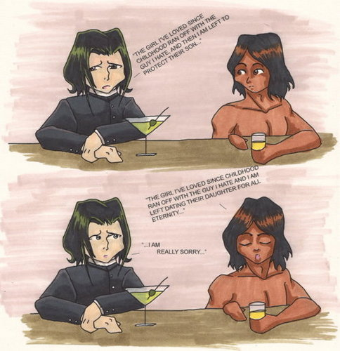 Snape and Jacob reminisce over love lost