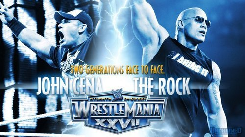 THE ROCK VS JOHN CENA WM28 - wwe Photo