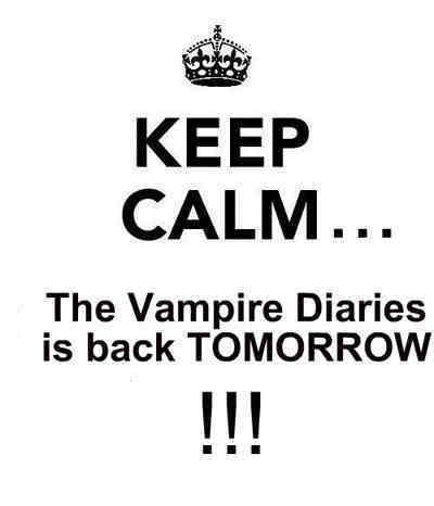 TVD back tomorrow <3