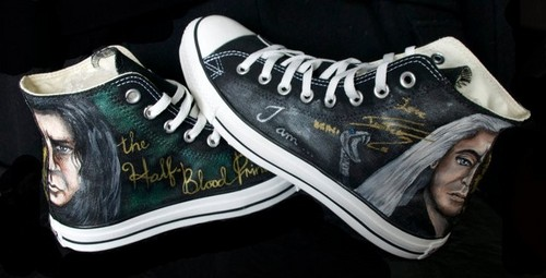 Tom Signed painted Harry Potter converse
