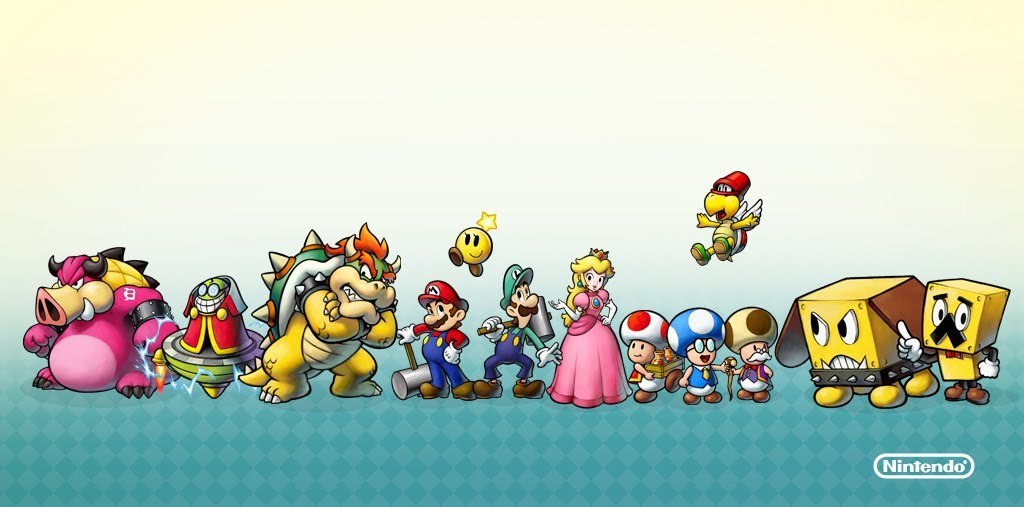Hintergrund Characters Mario And Luigi Bowser S Inside Story