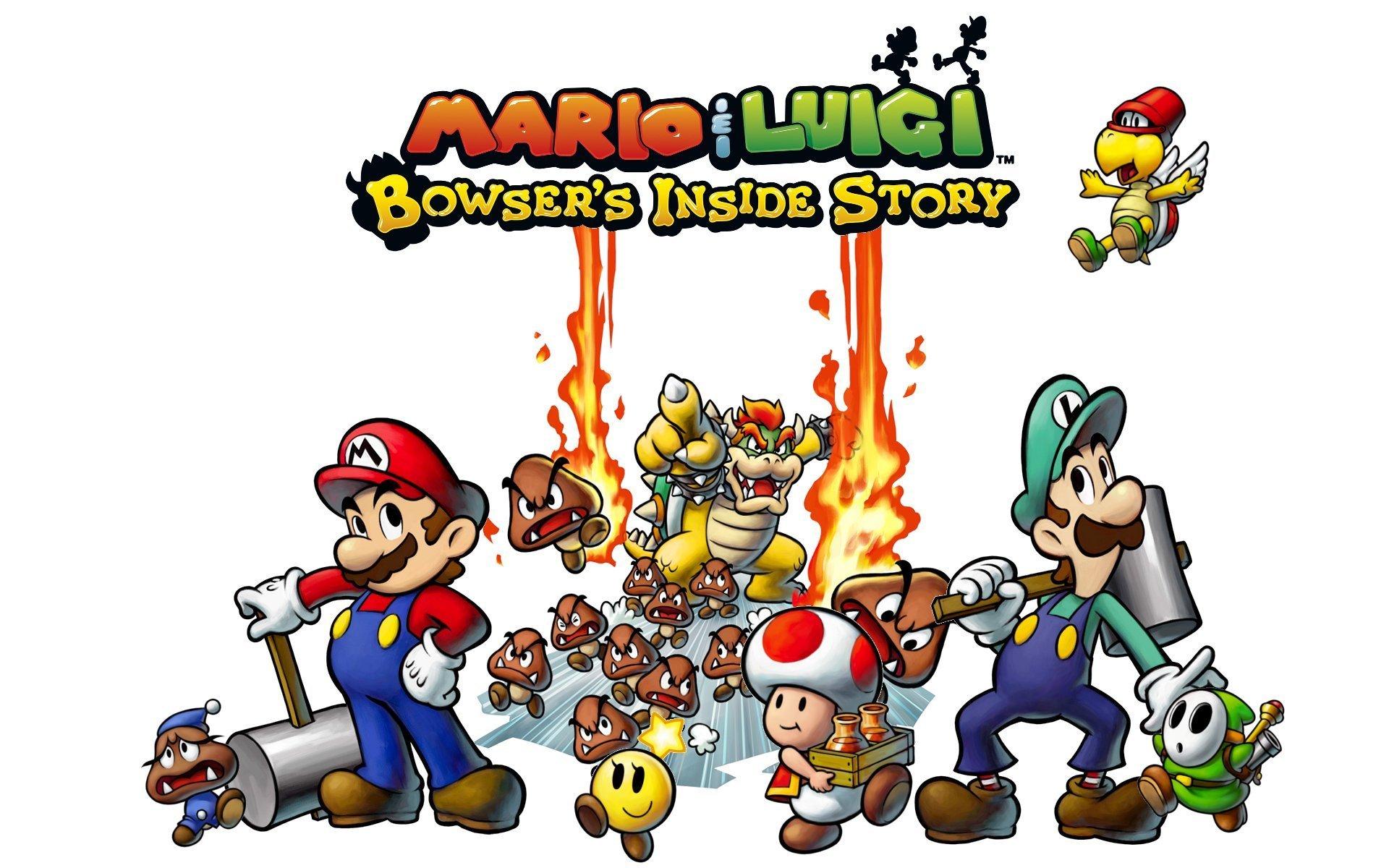 Fondo De Pantalla Mario And Luigi Bowser S Inside Story Fondo De