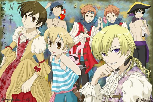 Ouran High School Host Club Hintergrund containing Anime titled host club pirates