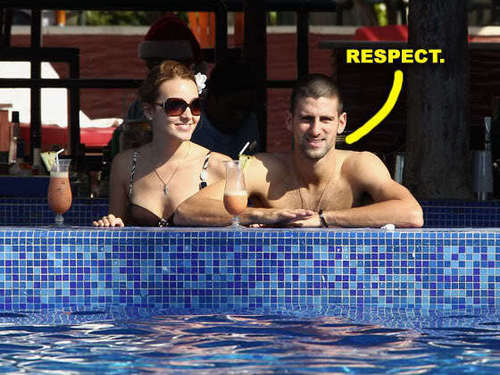 Novak Djokovic wallpaper probably containing a hot tub titled jelena-ristic-novak-djokovic water