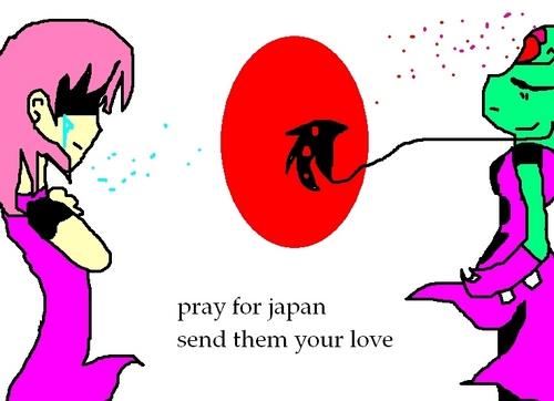 lin prays for Япония