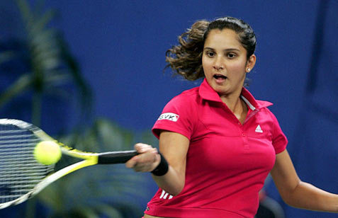 tenis wolpeyper containing a tenis racket, a tenis pro, and a tenis player titled sania breast