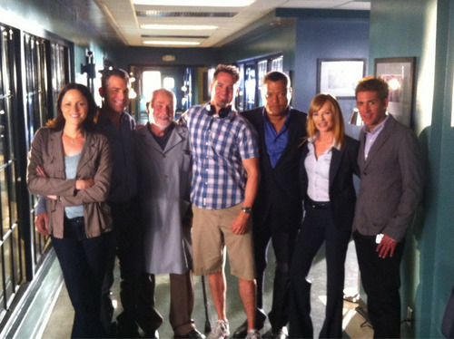 CSI wallpaper with a business suit and a street entitled 11.22-In A Dark, Dark House-Behind The Scenes