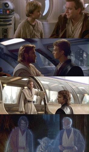 Anakin and Obiwan Kenobi beginning-end