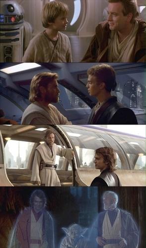 Anakin and Obiwan Kenobi beginning-end