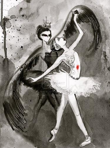 Black 白鳥, スワン Art♥