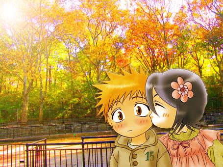 Bleach Ichigo And Rukia Images Chibi Ichiruki Wallpaper Background Photos