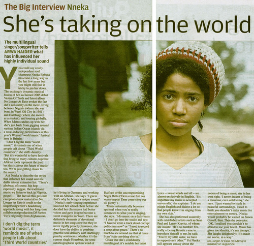 Coverage: Nneka in Metro