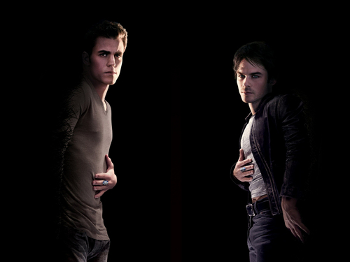 Damon and Stefan Salvatore wallpaper containing a business suit entitled Damon&Stefan ✯