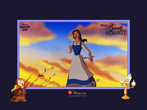 Classic Disney wallpaper probably containing anime titled Beauty And The Beast
