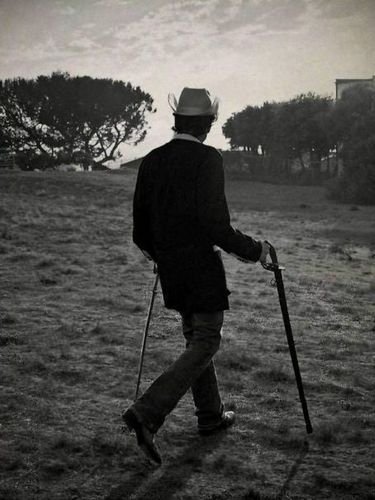Dylan and his cane