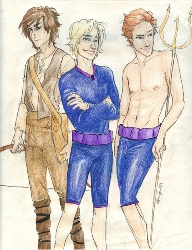 Finnick, Peeta, and Gale