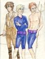 Finnick, Peeta, and Gale