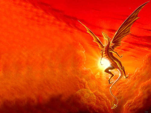 Dragons wallpaper titled Flying Dragon