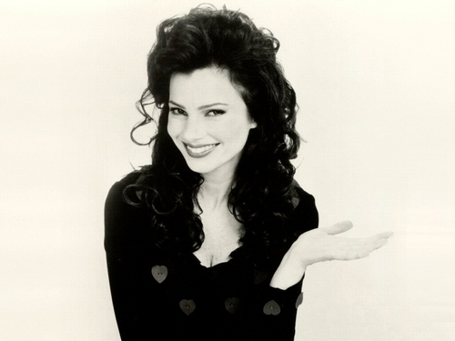 Fran Drescher karatasi la kupamba ukuta possibly containing a well dressed person, a playsuit, and an outerwear entitled Fran Drescher