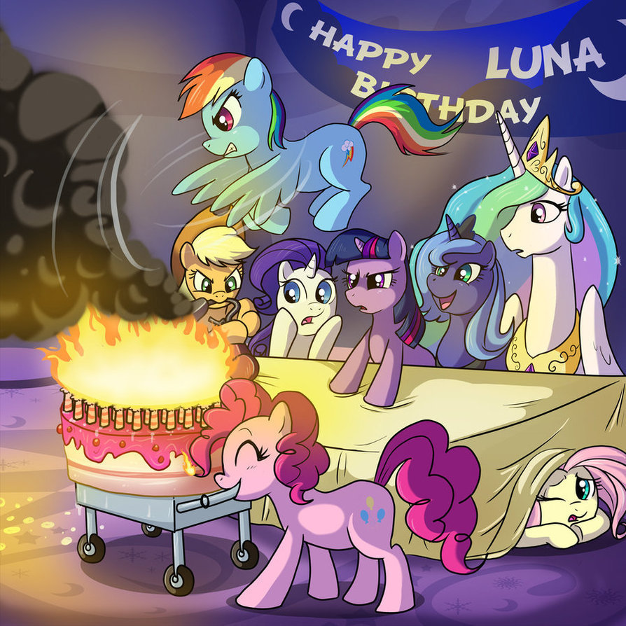 My Little Pony Friendship is Magic Happy Birthday, Luna