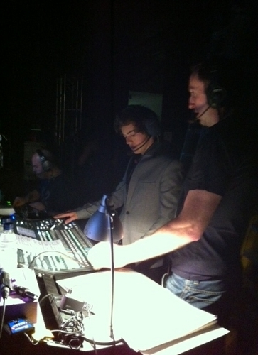 Harry vision mixing on the X Factor tour in Cardiff [09/04/11]!