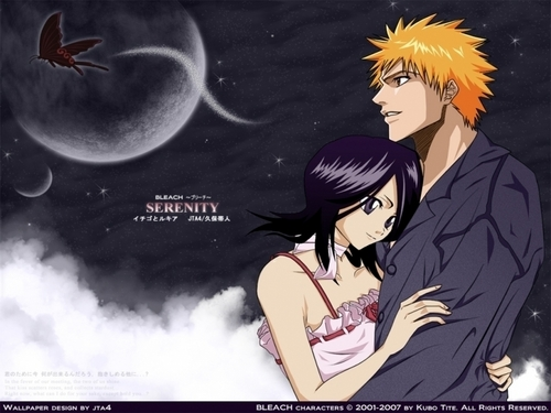 Bleach Ichigo And Rukia Wallpaper With Anime Titled