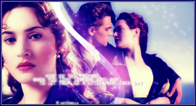 """Movie Couples wallpaper with a portrait entitled Jack and Rose """"Titanic"""""""