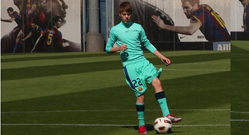 Justin Bieber サッカー player