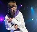 Justin in concert, in Spain