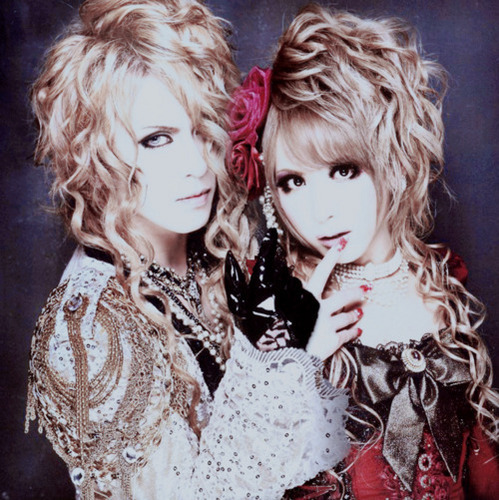 Versailles wallpaper with a portrait entitled Kamijo and Hizaki