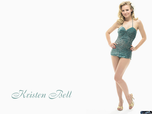 Kristen Bell wallpaper possibly with a leotard, a maillot, and tights entitled Kristen Bell