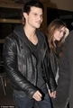 Leaving Sushi avondeten, diner with Lilly Collins, April 7, 2011