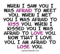 amor Quote - Afraid, Kiss, amor & Lose 100% Real :) ♥