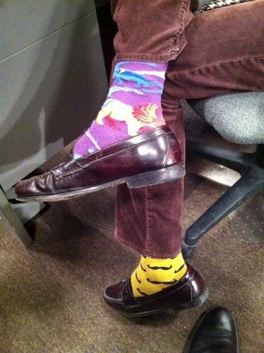 MGG & his socks.