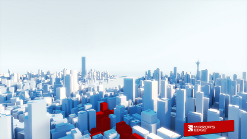 Mirror's Edge wallpaper with a business district entitled Mirror's Edge
