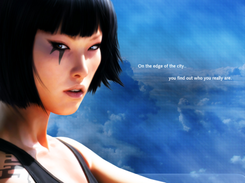 Mirror's Edge fondo de pantalla probably containing a portrait titled Mirror's Edge