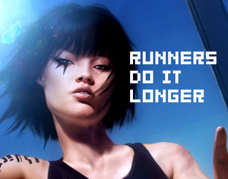 Mirror's Edge 바탕화면 with a portrait entitled Mirror's Edge