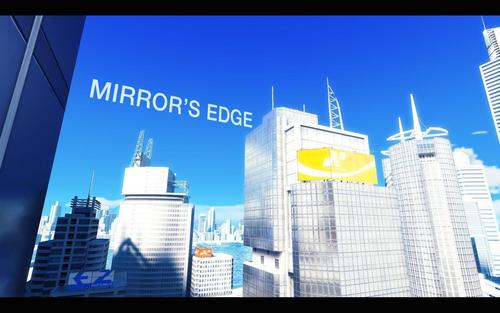 Mirror's Edge wallpaper containing a business district and a skyscraper titled Mirror's Edge