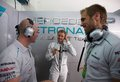 Nico Rosberg in garage after qualifying at GP Malaysia,Sepang