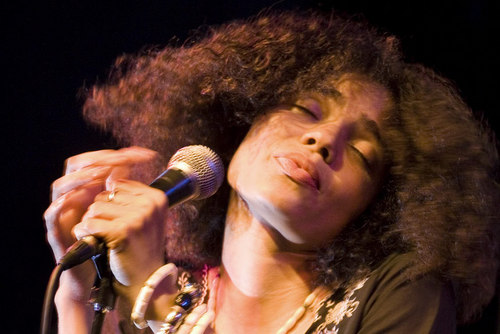 Nneka Holding Microphone